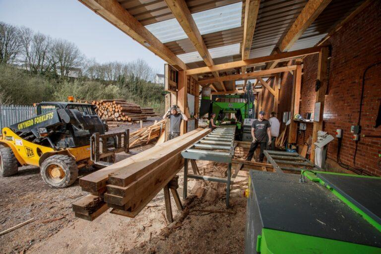 The Arfon Timber at work in their yard in Caernarfon