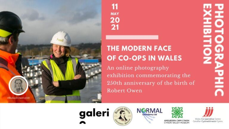 Virtual 3D Photographic gallery - The Modern Face of Co-ops in Wales (bi-lingual)